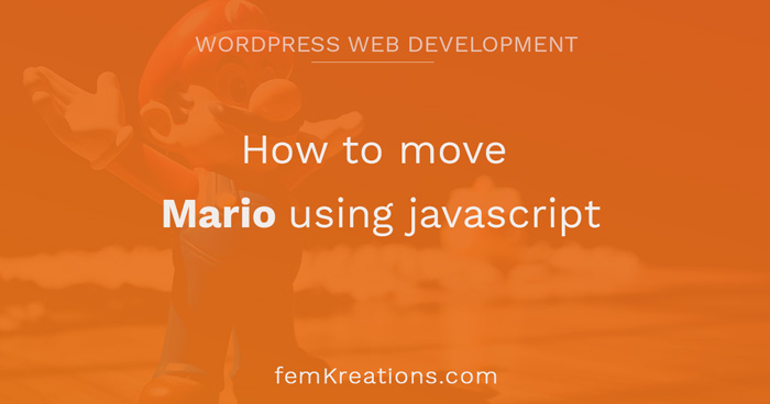 How to move Mario using javascript