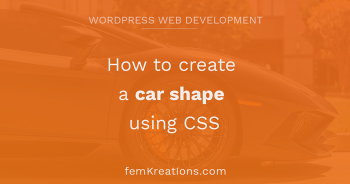 How to create a car shape using CSS
