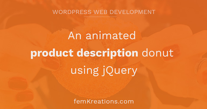 An animated product description donut using jQuery