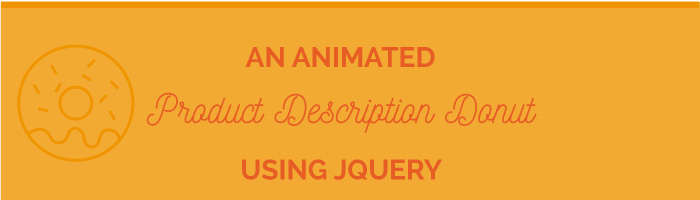 Animated Product description donut using jQuery