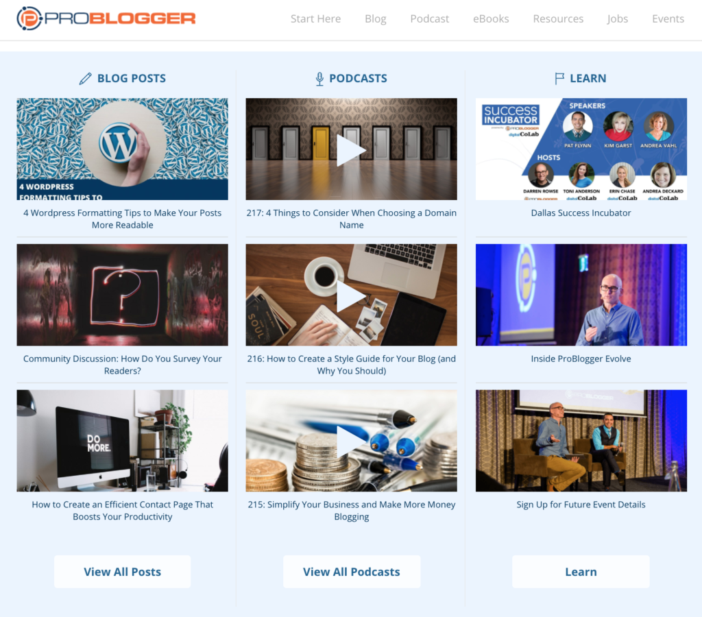 how to display recent posts on homepage problogger