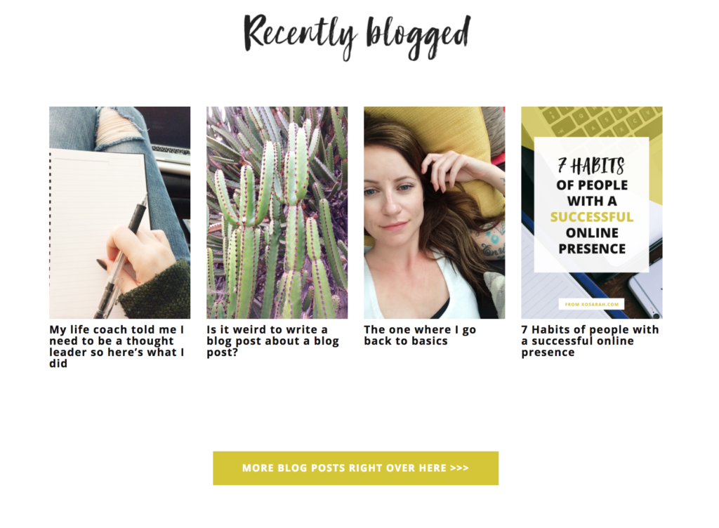 how to display recent posts on homepage xosarah