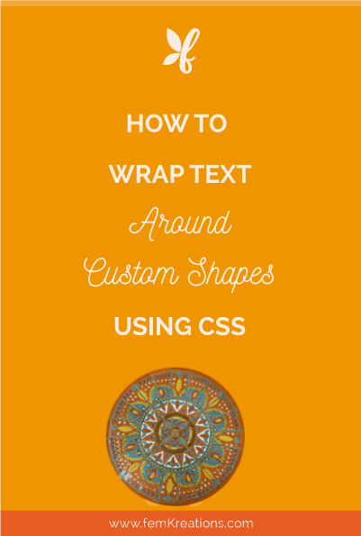 How to wrap text around custom shapes using css