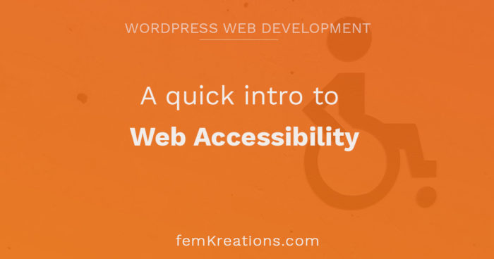 A quick intro to web accessibility